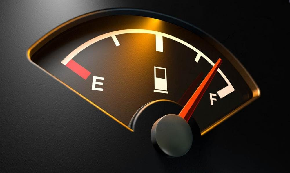 An image of a car's fuel gauge