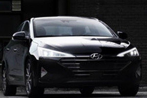 Spied Hyundai Elantra 2019 front view