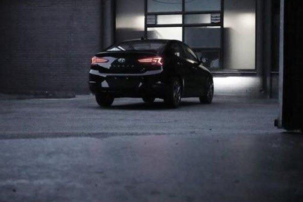 Back side of the Hyundai Elantra 2019