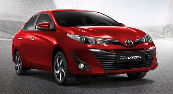 A picture of a red Toyota Vios 2019