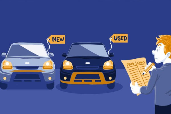 choice between new or used car