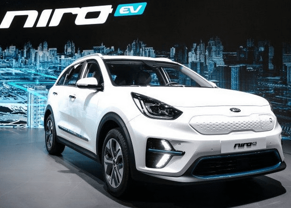 Angular front of the Kia Niro EV 2019