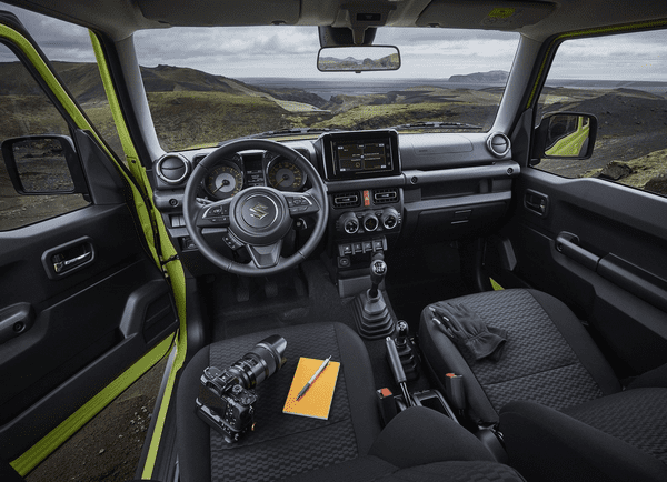 interior of the Suzuki Jimny 2019