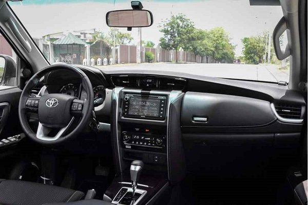 Interiors of the Toyota Fortuner 2018