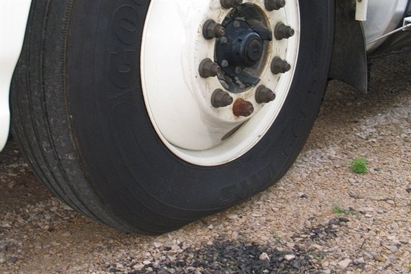 deflated car tire
