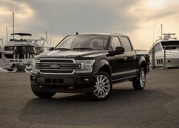 Angualr front of the Ford F-150 2019 Limited trim