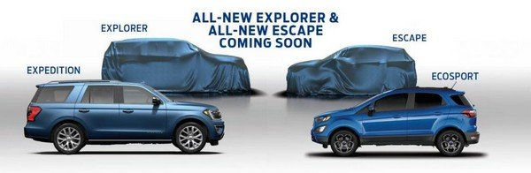 Ford Explorer and Ford Escape in online teaser