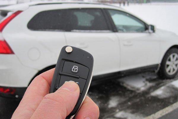 locking a car door