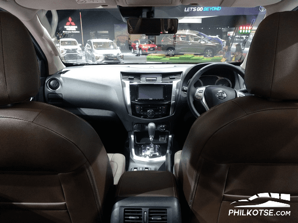 interior of the Nissan Terra at the 2018 Gaikindo Indonesia International Auto Show