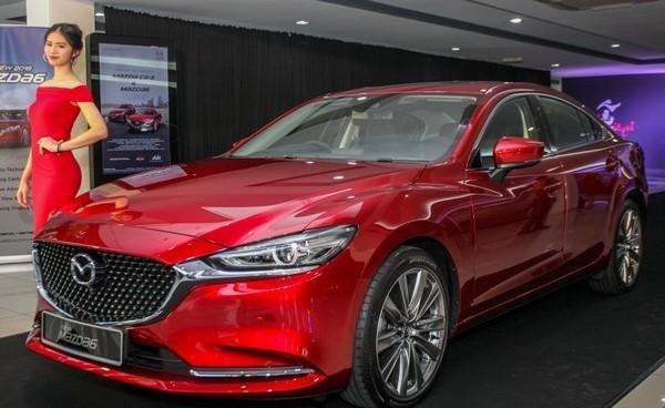 Mazda 6 2018 facelift angular front