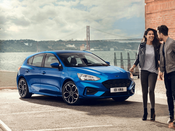 The angular front of the Ford Focus 2019 which the new SUV will be based on