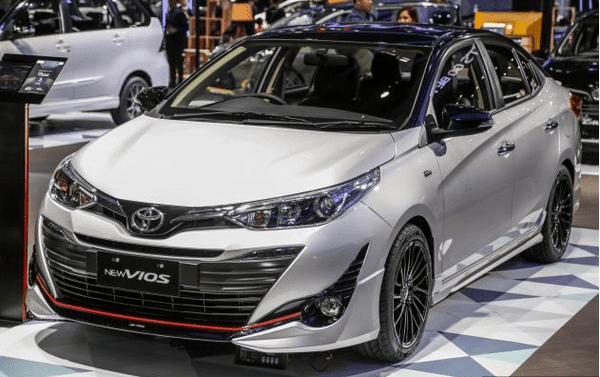 angular front of the Toyota Vios TRD 2018 prototype at GIIAS 2018