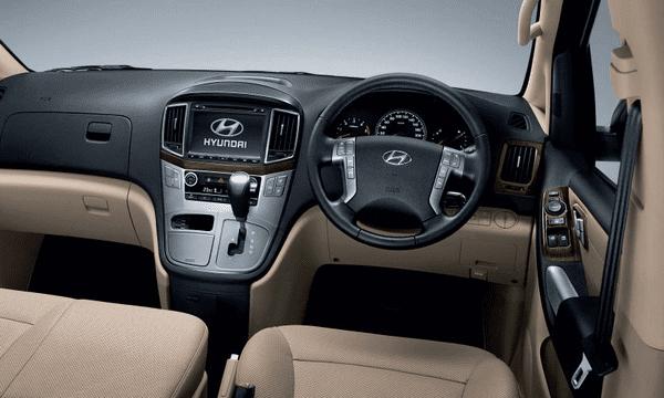 The cabin of the Thai-spec Hyundai Grand Starex 2018 facelift