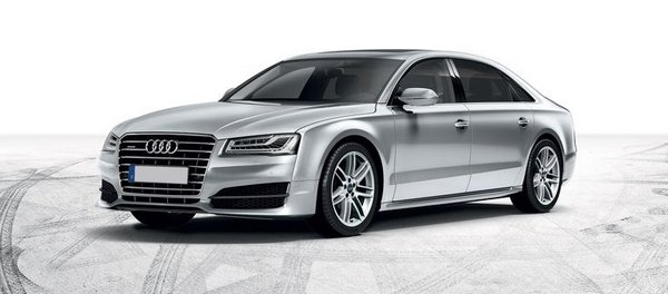 angular front of the Audi A8 3.0L
