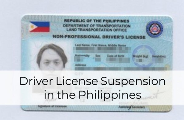 Vital Things About Driver License Suspension in the Philippines