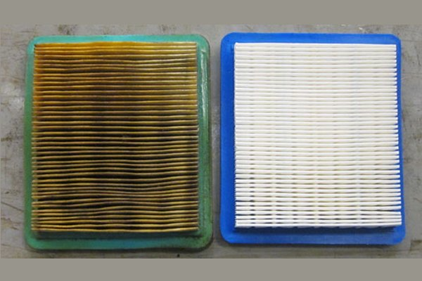 clean and dirty air filter