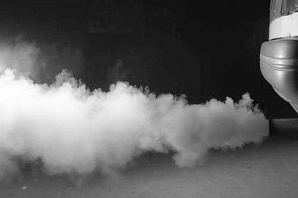exhaust pipe smoke