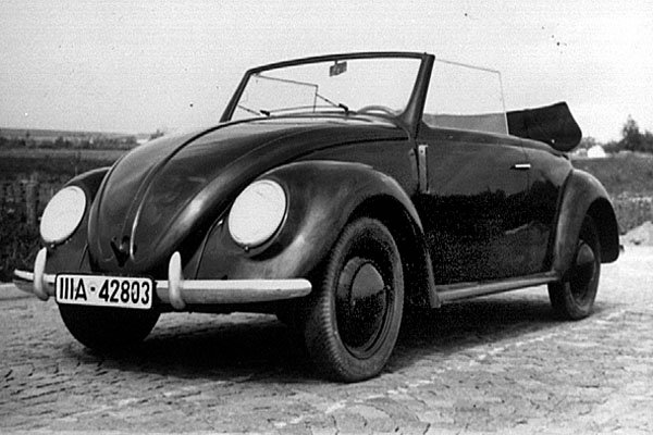 Angular view of Volkswagen's first car