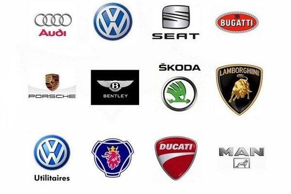 Brands under the Volkswagen Group