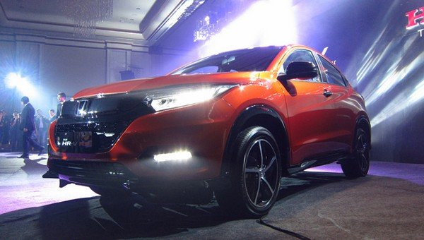 Angular front of the Honda HR-V 2018 facelift