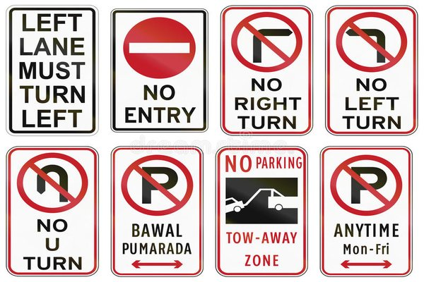 commong road signs to remember when driving in PH