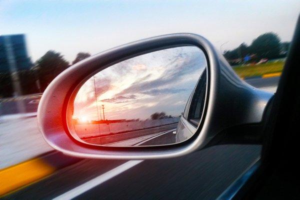 a car side mirror