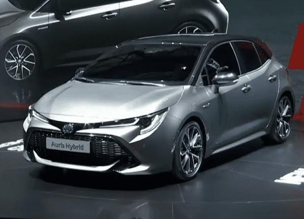angular front of the Toyota Corolla 2019, Auris in European market