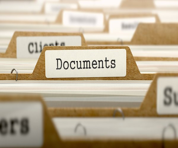bring all the important documents