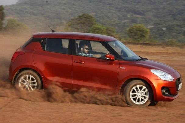 Suzuki Swift on the road