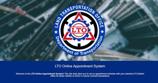 LTO online appointment and scheduling system