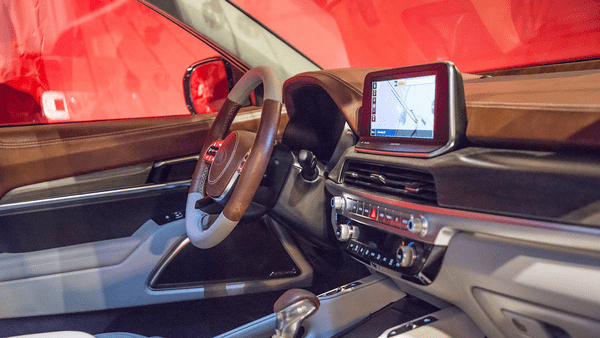 Cabin of the Kia Telluride 2019 at New York Fashion Show