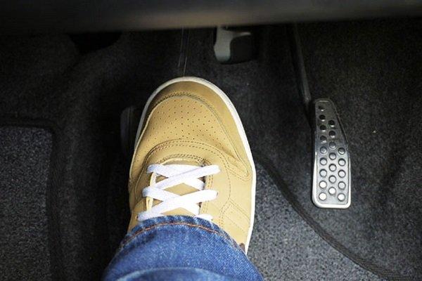 Pressing the brake