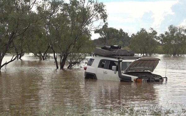 4x4 Vehicle in Flood