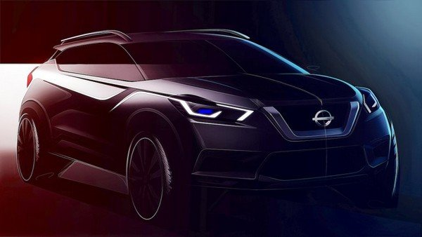 Teased Nissan Kicks 2019 angular front