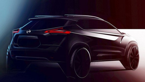 Teased Nissan Kicks 2019 angular rear