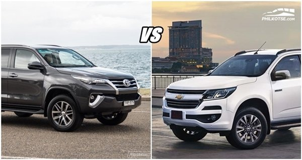 Toyota Fortuner 2018 vs Chevrolet Trailblazer 2018