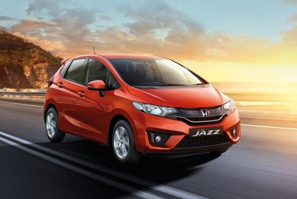 honda jazz on the road