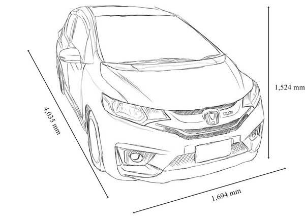 honda jazz 2018 dimensions