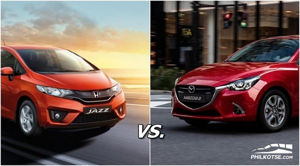 honda jazz vs mazda 2