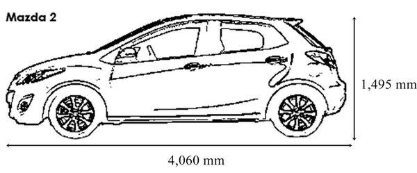 mazda 2 hatchback dimensions