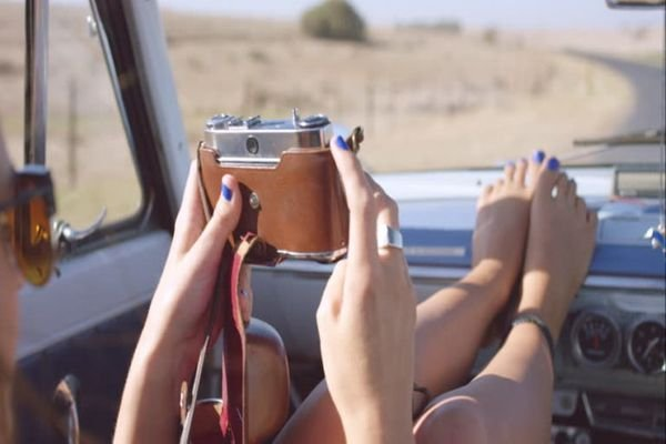 taking photos during road trips