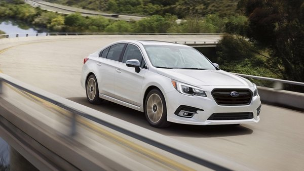 subaru legacy 2018 on the road