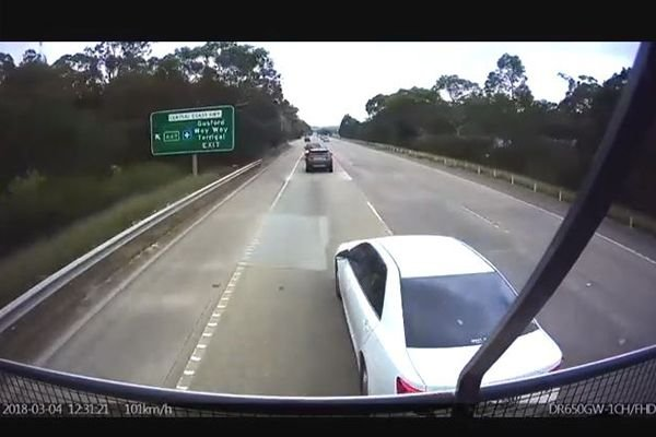 a dashcam showing surrounding vehicles