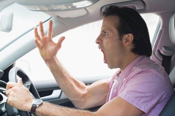 an aggressive driver