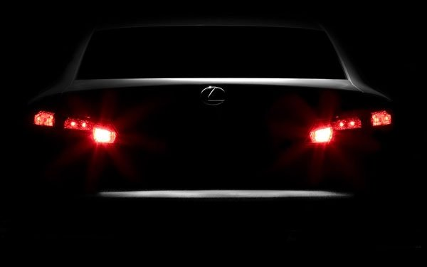 car taillights