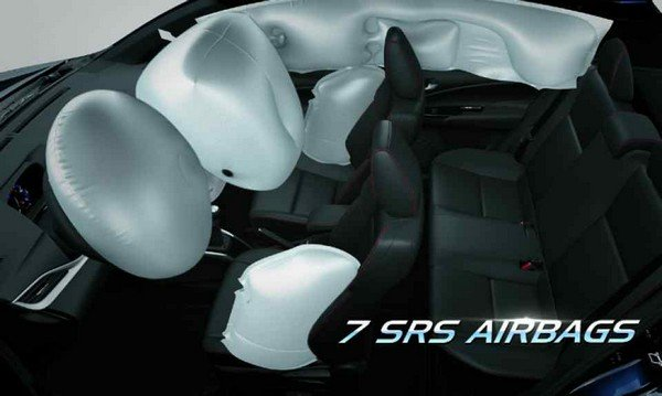 Toyota Vios 2019 airbags
