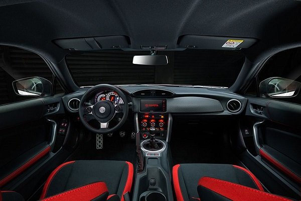 Interior view of the Toyota 86