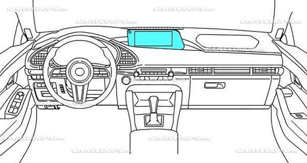 Mazda 3 2019 teaser illustrations interior design