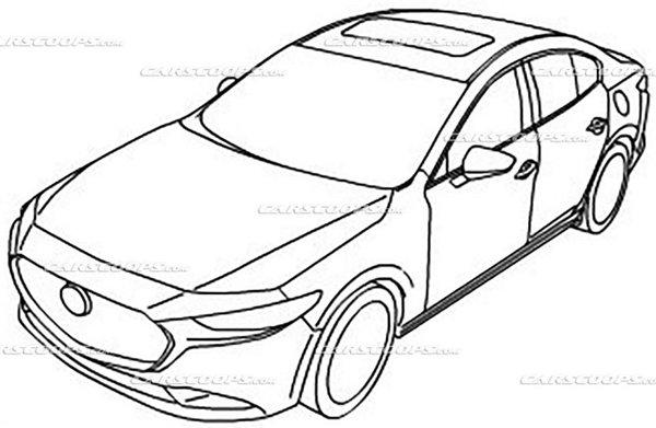 Mazda 3 2019 teaser illustrations exterior