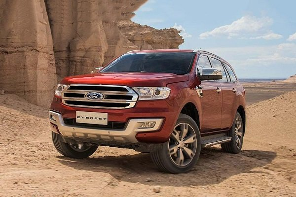 Latest model of the Ford Everest